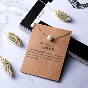 """Pearls of Love """" Make a Wish"""" necklace"""